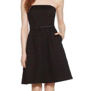WHBM • circle embossed strapless dress